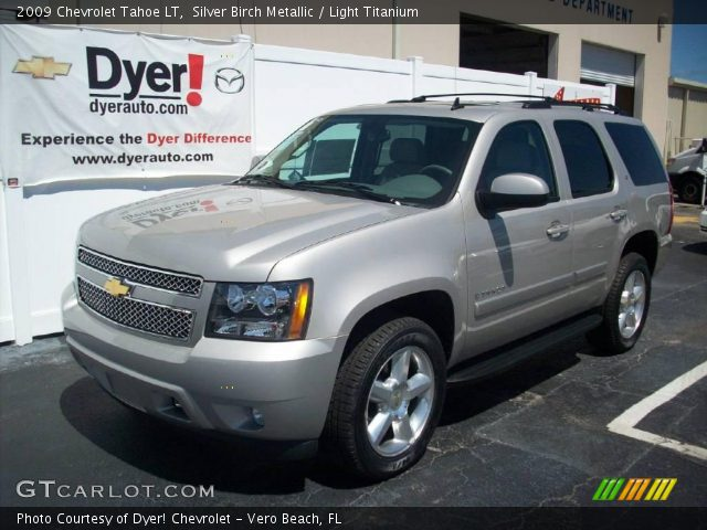 silver birch metallic 2009 chevrolet tahoe lt light. Black Bedroom Furniture Sets. Home Design Ideas