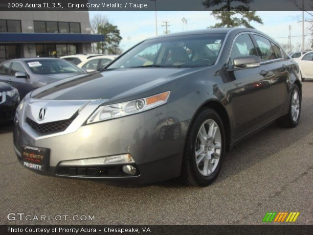grigio gray metallic 2009 acura tl 3 5 taupe interior. Black Bedroom Furniture Sets. Home Design Ideas