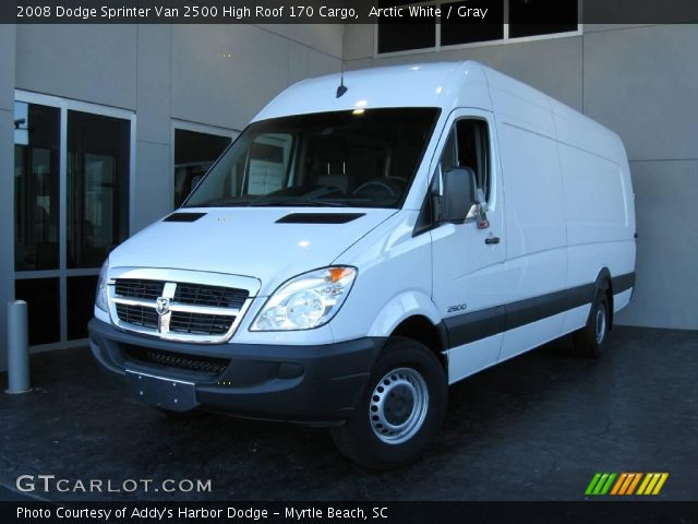 arctic white 2008 dodge sprinter van 2500 high roof 170. Black Bedroom Furniture Sets. Home Design Ideas