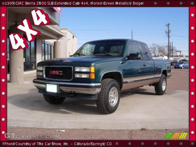 1995 GMC Sierra 2500 SLE Extended Cab 4x4 in Forest Green Metallic