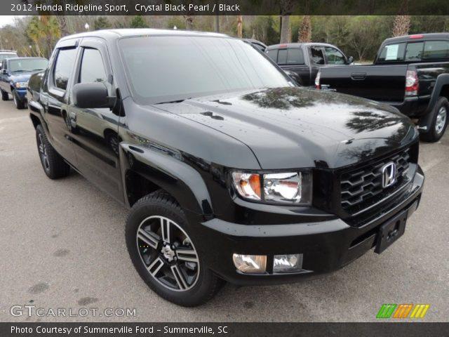 crystal black pearl 2012 honda ridgeline sport black interior vehicle. Black Bedroom Furniture Sets. Home Design Ideas