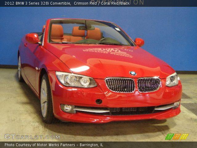 Crimson Red 2012 Bmw 3 Series 328i Convertible Coral Red Black Interior
