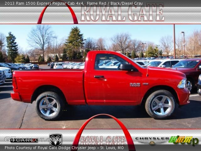 2013 Ram 1500 Express Regular Cab 4x4 in Flame Red