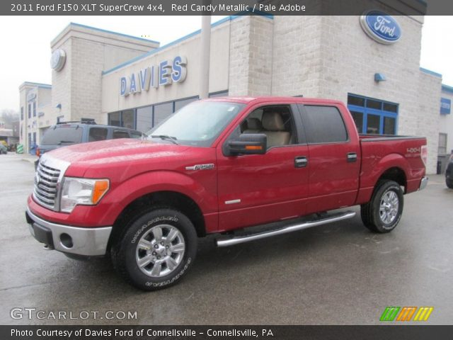 red candy metallic 2011 ford f150 xlt supercrew 4x4 pale adobe interior. Black Bedroom Furniture Sets. Home Design Ideas