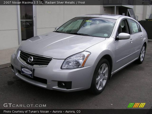 radiant silver metallic 2007 nissan maxima 3 5 se frost interior vehicle. Black Bedroom Furniture Sets. Home Design Ideas