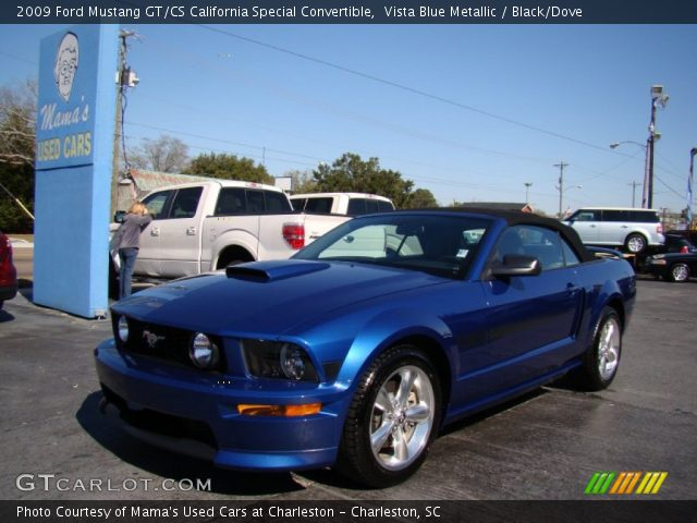 vista blue metallic 2009 ford mustang gt cs california special convertible black dove. Black Bedroom Furniture Sets. Home Design Ideas
