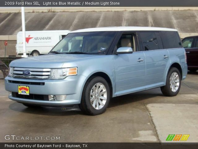 light ice blue metallic 2009 ford flex sel medium. Black Bedroom Furniture Sets. Home Design Ideas
