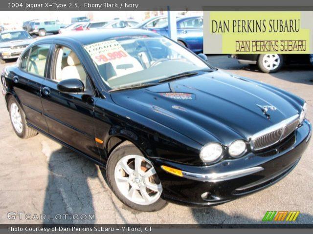 ebony black 2004 jaguar x type 2 5 ivory interior vehicle archive 77331985. Black Bedroom Furniture Sets. Home Design Ideas