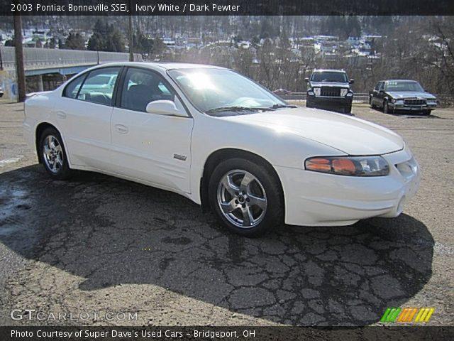 2003 Pontiac Bonneville SSEi in Ivory White