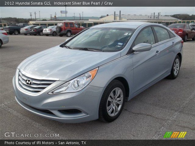 iridescent silver blue pearl 2012 hyundai sonata gls gray interior. Black Bedroom Furniture Sets. Home Design Ideas