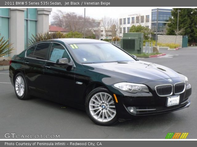 jet black 2011 bmw 5 series 535i sedan venetian beige interior vehicle. Black Bedroom Furniture Sets. Home Design Ideas