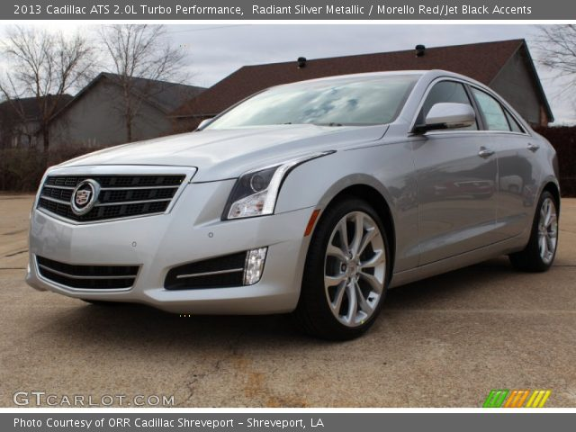radiant silver metallic 2013 cadillac ats 2 0l turbo performance morello red jet black. Black Bedroom Furniture Sets. Home Design Ideas