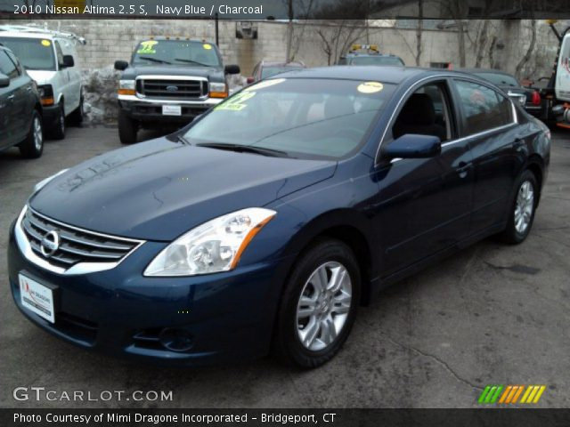 navy blue 2010 nissan altima 2 5 s charcoal interior vehicle archive 77454087. Black Bedroom Furniture Sets. Home Design Ideas