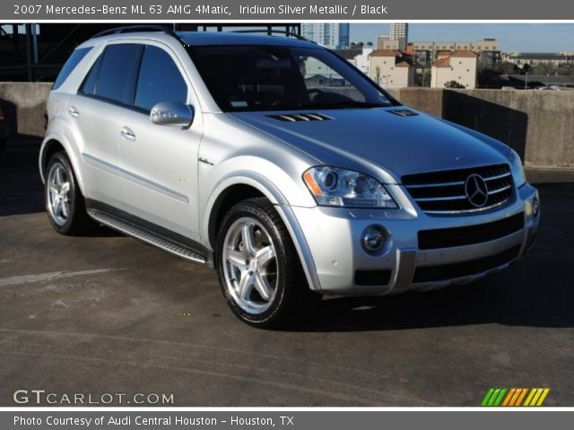 iridium silver metallic 2007 mercedes benz ml 63 amg 4matic black interior. Black Bedroom Furniture Sets. Home Design Ideas