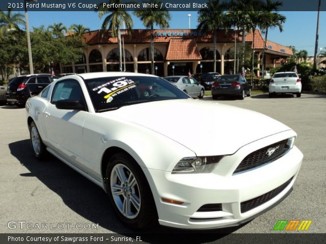 performance white 2013 ford mustang v6 coupe charcoal. Black Bedroom Furniture Sets. Home Design Ideas