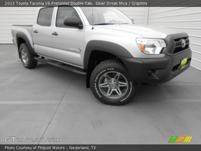silver streak mica 2013 toyota tacoma v6 prerunner double cab graphite interior gtcarlot. Black Bedroom Furniture Sets. Home Design Ideas