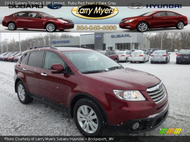 2012 Subaru Tribeca 3.6R Limited in Ruby Red Pearl