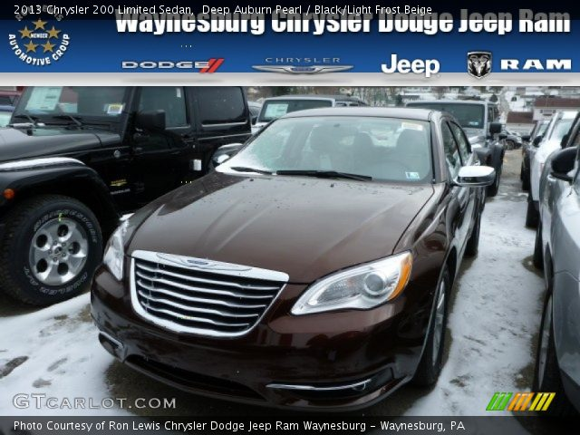 deep auburn pearl 2013 chrysler 200 limited sedan. Black Bedroom Furniture Sets. Home Design Ideas