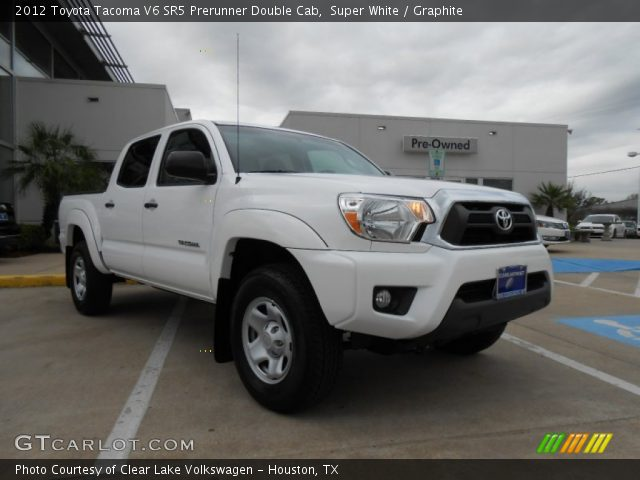 super white 2012 toyota tacoma v6 sr5 prerunner double cab graphite interior. Black Bedroom Furniture Sets. Home Design Ideas
