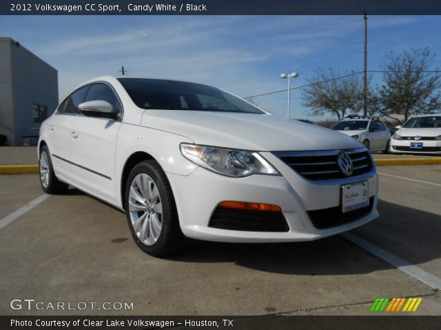 candy white 2012 volkswagen cc sport black interior vehicle archive 77556033. Black Bedroom Furniture Sets. Home Design Ideas