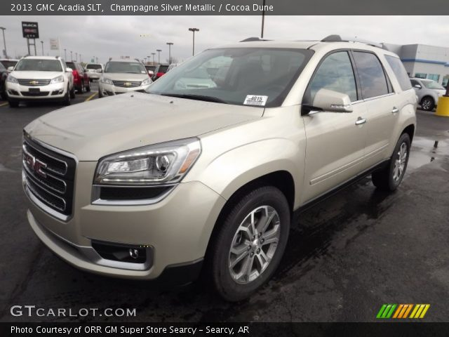 2013 GMC Acadia SLT in Champagne Silver Metallic. Click to see large