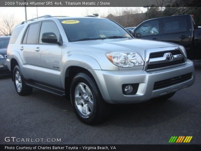 titanium metallic 2009 toyota 4runner sr5 4x4 stone interior vehicle. Black Bedroom Furniture Sets. Home Design Ideas