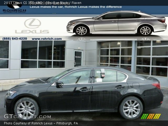 obsidian black 2013 lexus gs 350 awd flaxen interior vehicle archive 77555657. Black Bedroom Furniture Sets. Home Design Ideas