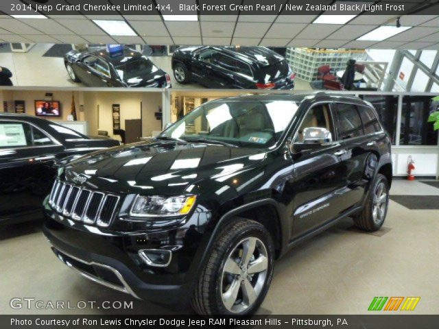 Black Forest Green Pearl 2014 Jeep Grand Cherokee Limited 4x4
