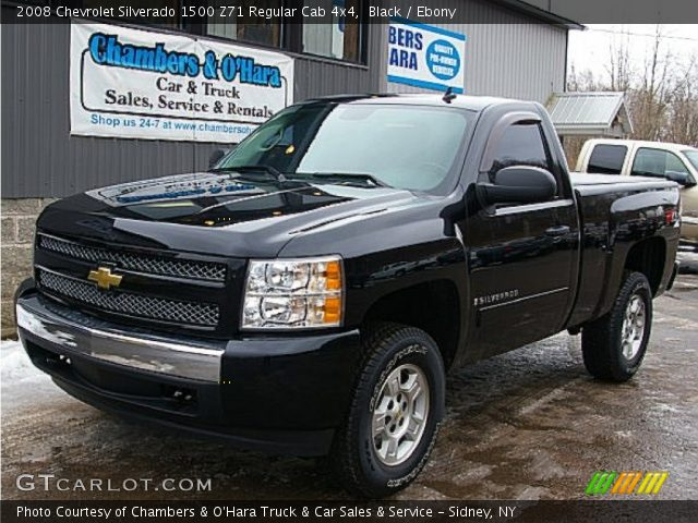 2008 Chevrolet Silverado 1500 Z71 Regular Cab 4x4 in Black