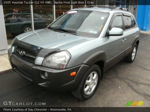 alpine frost light blue 2005 hyundai tucson gls v6 4wd. Black Bedroom Furniture Sets. Home Design Ideas