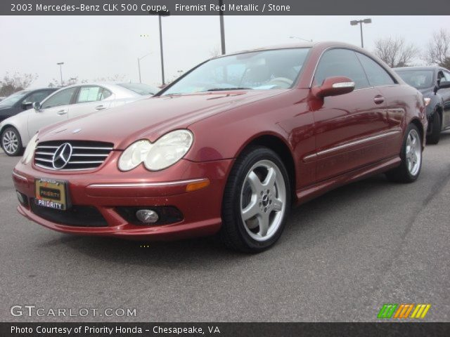 Firemist Red Metallic 2003 Mercedes Benz Clk 500 Coupe