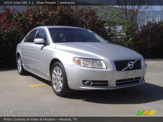 silver metallic 2010 volvo s80 3 2 anthracite interior. Black Bedroom Furniture Sets. Home Design Ideas