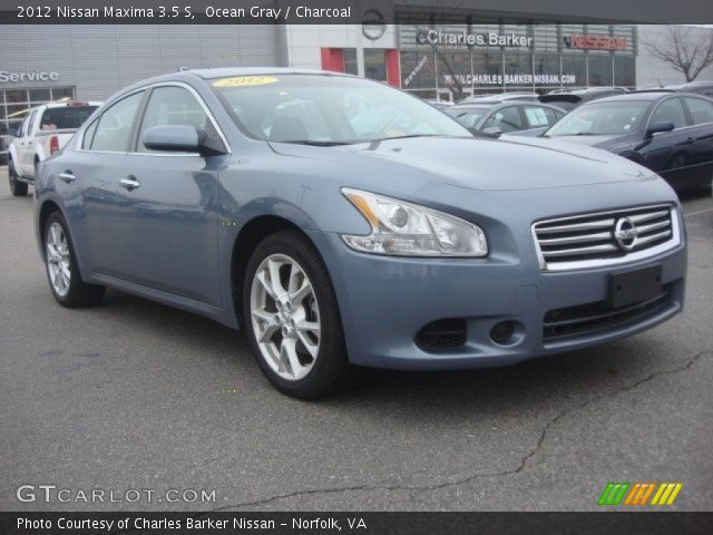 ocean gray 2012 nissan maxima 3 5 s charcoal interior vehicle archive 77675281. Black Bedroom Furniture Sets. Home Design Ideas