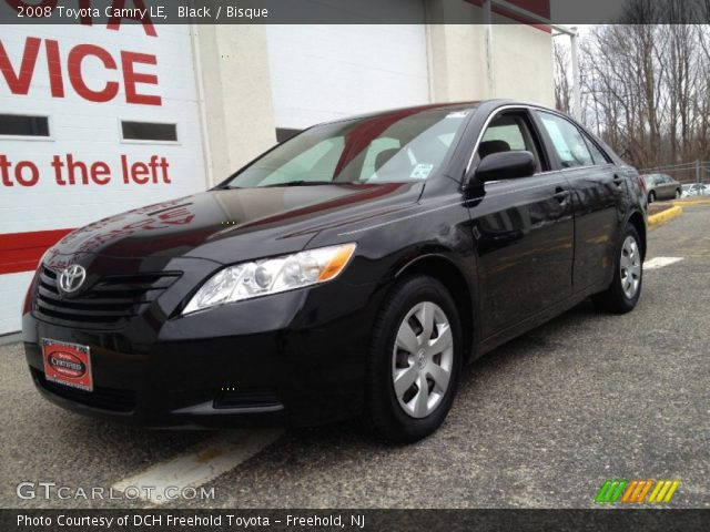 black 2008 toyota camry le bisque interior vehicle archive 77675452. Black Bedroom Furniture Sets. Home Design Ideas