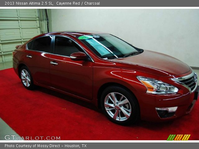 cayenne red 2013 nissan altima 2 5 sl charcoal interior vehicle archive. Black Bedroom Furniture Sets. Home Design Ideas