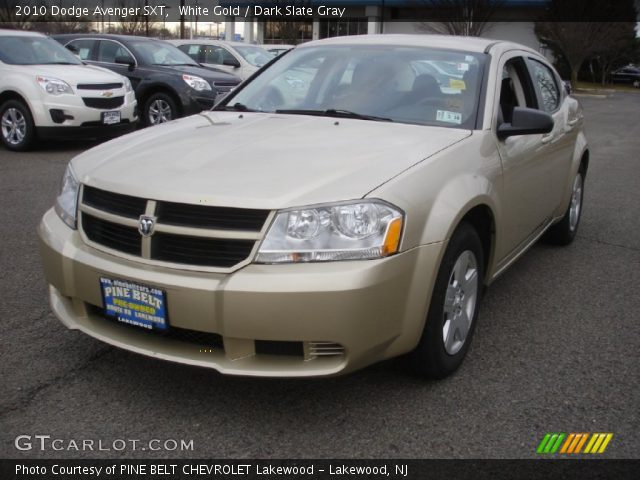 white gold 2010 dodge avenger sxt dark slate gray. Black Bedroom Furniture Sets. Home Design Ideas