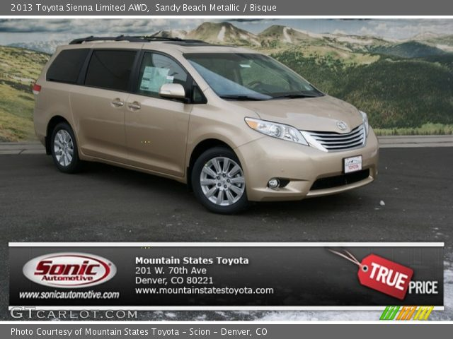 sandy beach metallic 2013 toyota sienna limited awd. Black Bedroom Furniture Sets. Home Design Ideas