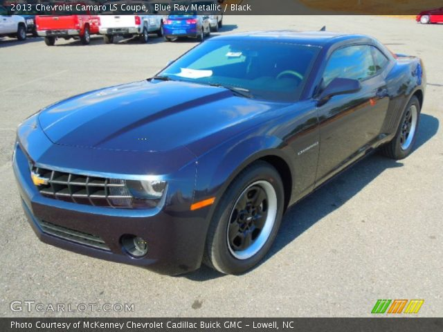 blue ray metallic 2013 chevrolet camaro ls coupe black. Black Bedroom Furniture Sets. Home Design Ideas