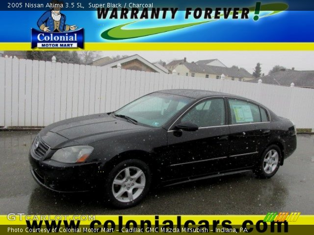 super black 2005 nissan altima 3 5 sl charcoal interior vehicle archive. Black Bedroom Furniture Sets. Home Design Ideas