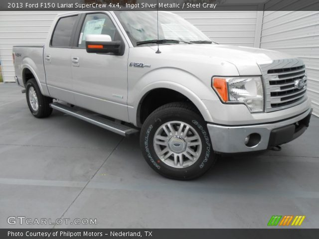 2013 Ford F150 Lariat SuperCrew 4x4 in Ingot Silver Metallic