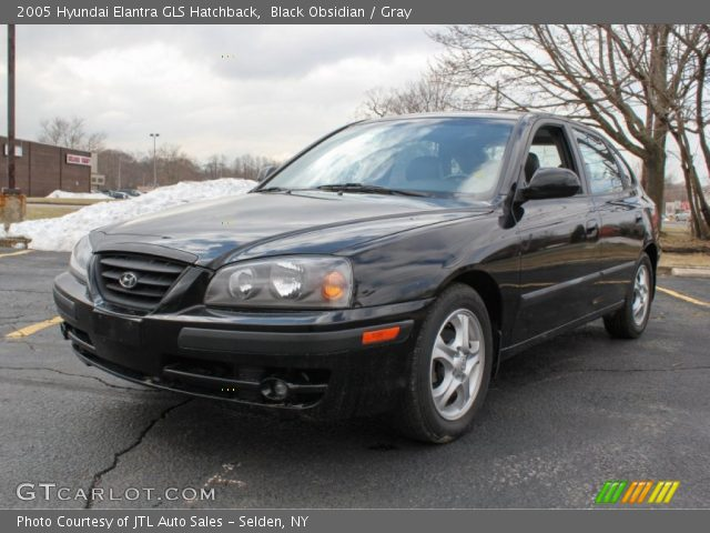 black obsidian 2005 hyundai elantra gls hatchback gray. Black Bedroom Furniture Sets. Home Design Ideas