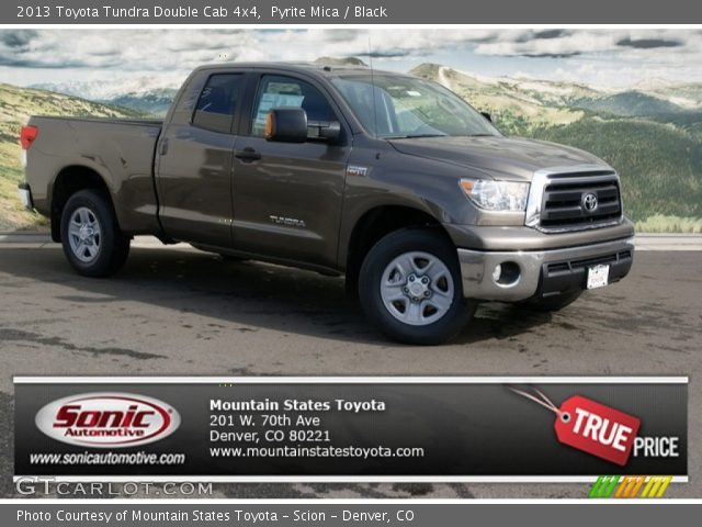 pyrite mica 2013 toyota tundra double cab 4x4 black interior vehicle. Black Bedroom Furniture Sets. Home Design Ideas