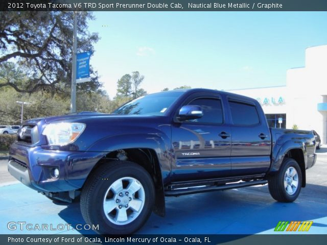 nautical blue metallic 2012 toyota tacoma v6 trd sport prerunner double cab graphite. Black Bedroom Furniture Sets. Home Design Ideas