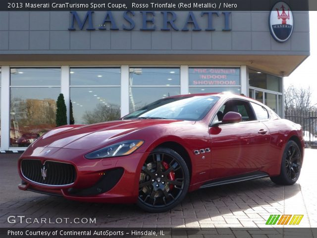 Rosso Trionfale Red Metallic 2013 Maserati Granturismo Sport Coupe Nero Interior