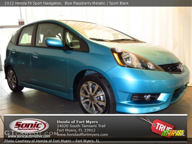 2013 Honda Fit Sport Navigation in Blue Raspberry Metallic