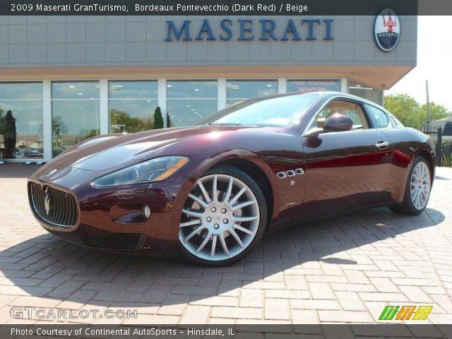 Bordeaux pontevecchio dark red 2009 maserati - Maserati granturismo red interior ...