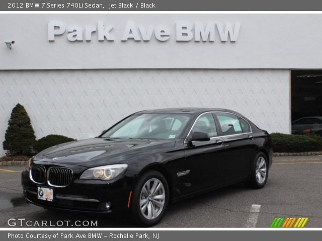 jet black 2012 bmw 7 series 740li sedan black interior. Black Bedroom Furniture Sets. Home Design Ideas