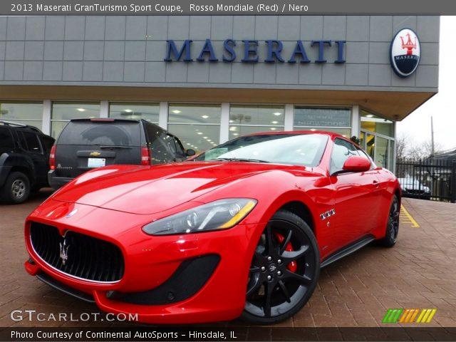 Rosso Mondiale Red 2013 Maserati Granturismo Sport Coupe Nero Interior