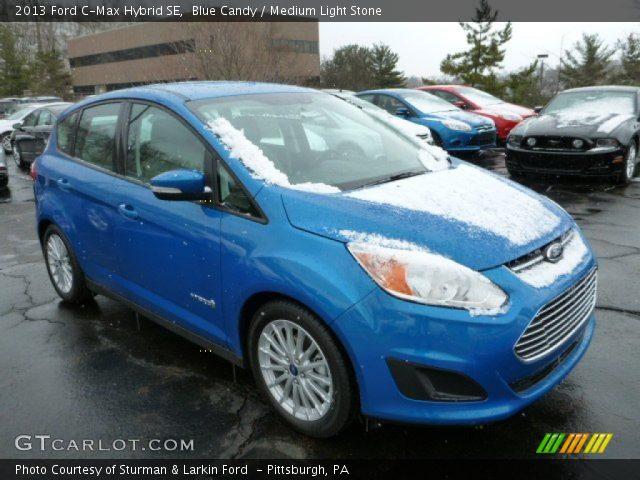 blue candy 2013 ford c max hybrid se medium light stone interior vehicle. Black Bedroom Furniture Sets. Home Design Ideas