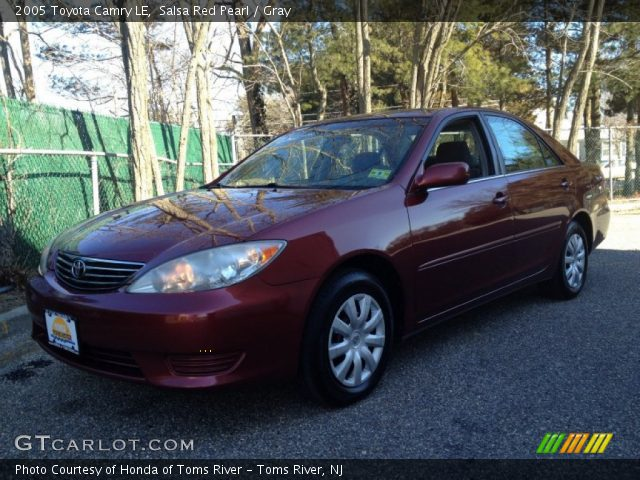 2005 Toyota Camry LE in Salsa Red Pearl